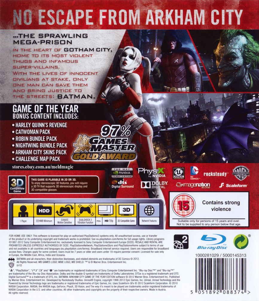 about ☝ Batman Arkham City Game Of The Year Edition GOTY (PS3
